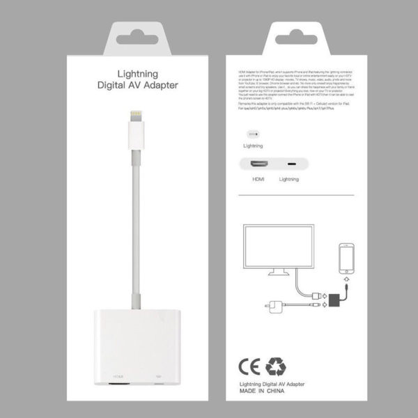 iPhone to TV Cable adapter, Lightning adapter, iPad to TV adapter