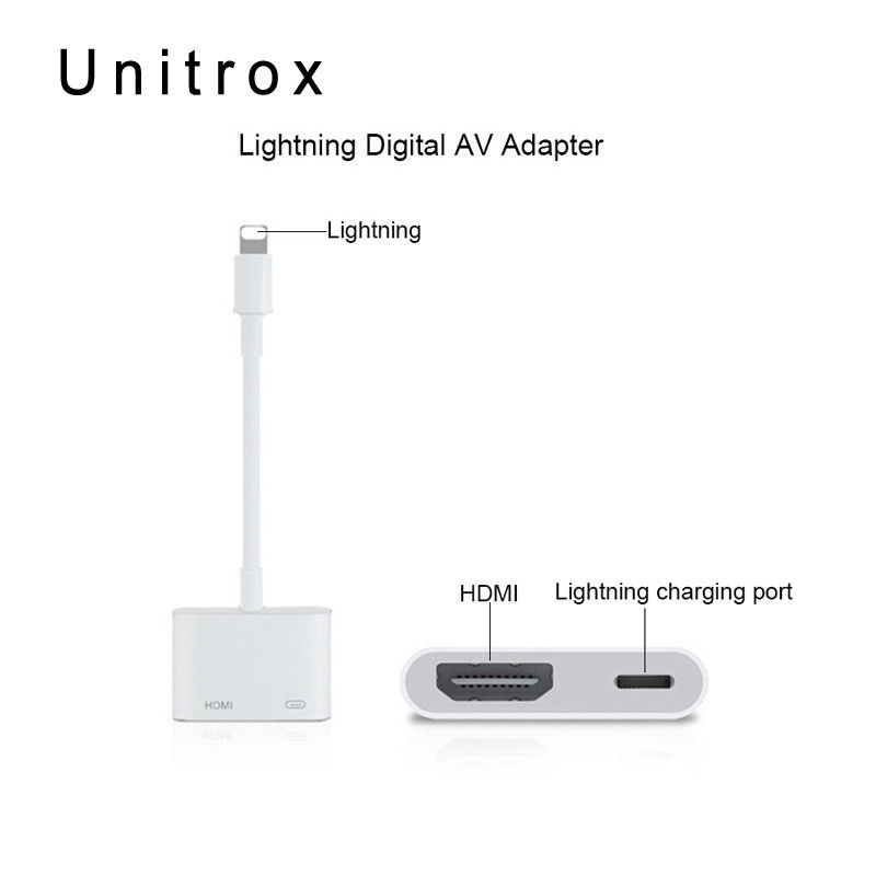 Lightning To Hdmi Digital Tv Av Adapter Cable For Apple Iphone X 8 7 6 Plus Ipad Best Buy Cables