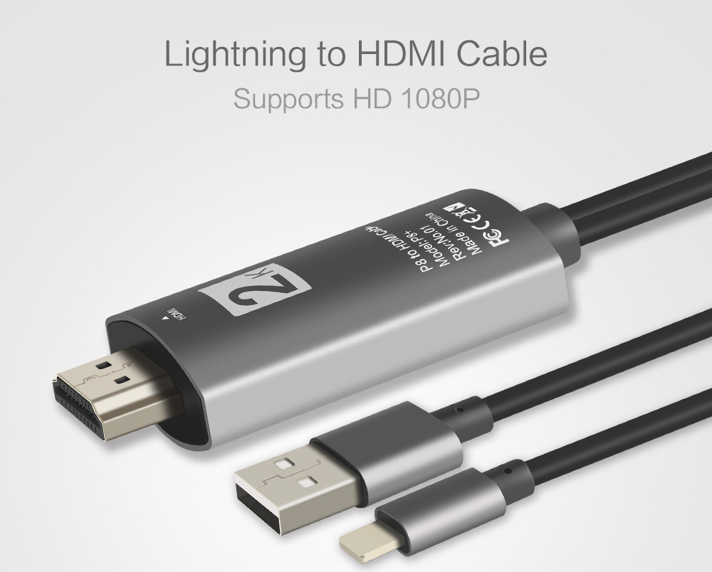 Hdmi Tv Cable Lightning To Hdmi Adapter Connector For Iphone 11 Pro X Xs 5 6 7 8 Ipad Mini Best Buy Cables