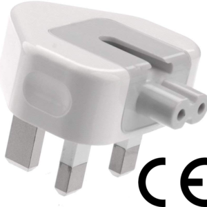 UK 3 Pin Power Plug Duckhead for All Types of Macbook Power Charger USB-C Power Adapters, MagSafe and MagSafe 2 Power Adapters